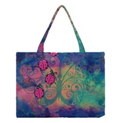 Background Colorful Bugs Medium Tote Bag by BangZart