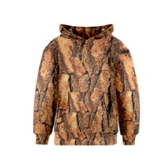 Bark Texture Wood Large Rough Red Wood Outside California Kids  Pullover Hoodie