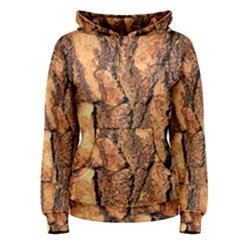 Bark Texture Wood Large Rough Red Wood Outside California Women s Pullover Hoodie by BangZart