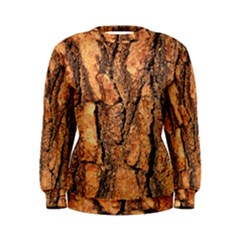 Bark Texture Wood Large Rough Red Wood Outside California Women s Sweatshirt