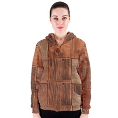 Barnwood Unfinished Women s Zipper Hoodie