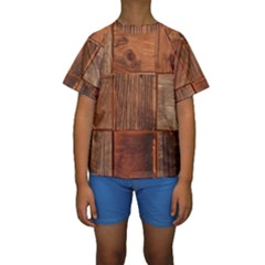 Barnwood Unfinished Kids  Short Sleeve Swimwear