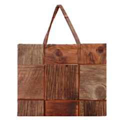 Barnwood Unfinished Zipper Large Tote Bag by BangZart