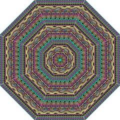 Aztec Pattern Cool Colors Golf Umbrellas by BangZart