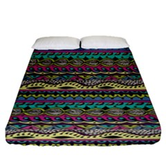 Aztec Pattern Cool Colors Fitted Sheet (queen Size)