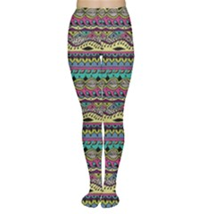 Aztec Pattern Cool Colors Women s Tights