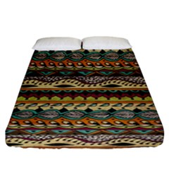 Aztec Pattern Ethnic Fitted Sheet (king Size)