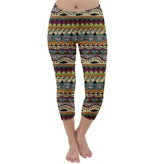 Aztec Pattern Ethnic Capri Winter Leggings