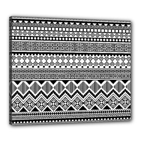 Aztec Pattern Design Canvas 24  X 20