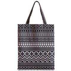 Aztec Pattern Design Zipper Classic Tote Bag