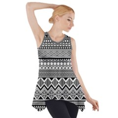 Aztec Pattern Design Side Drop Tank Tunic