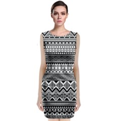 Aztec Pattern Design Classic Sleeveless Midi Dress