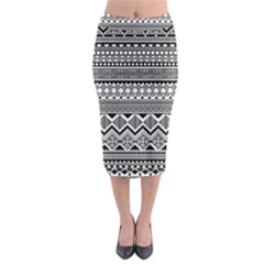 Aztec Pattern Design Midi Pencil Skirt