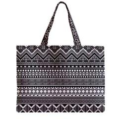 Aztec Pattern Design(1) Zipper Mini Tote Bag by BangZart