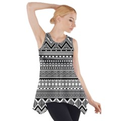 Aztec Pattern Design(1) Side Drop Tank Tunic