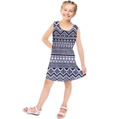 Aztec Pattern Design(1) Kids  Tunic Dress