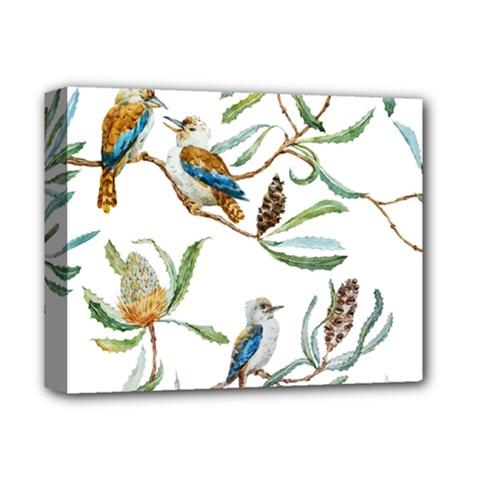 Australian Kookaburra Bird Pattern Deluxe Canvas 14  X 11