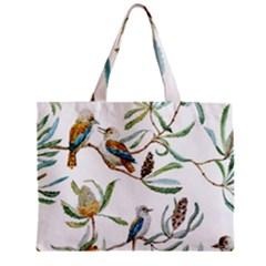 Australian Kookaburra Bird Pattern Zipper Mini Tote Bag by BangZart