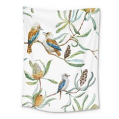 Australian Kookaburra Bird Pattern Medium Tapestry