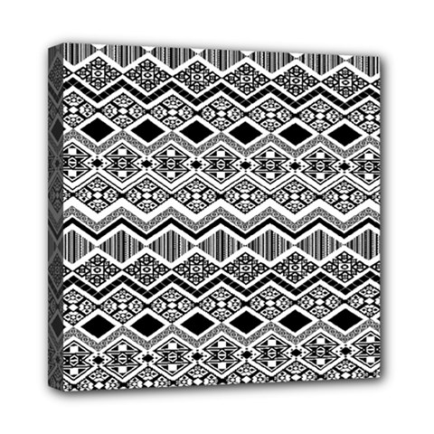 Aztec Design  Pattern Mini Canvas 8  X 8  by BangZart
