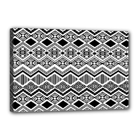 Aztec Design  Pattern Canvas 18  X 12  by BangZart