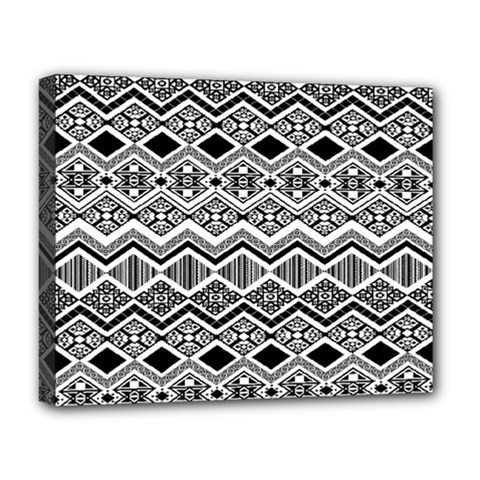 Aztec Design  Pattern Deluxe Canvas 20  X 16