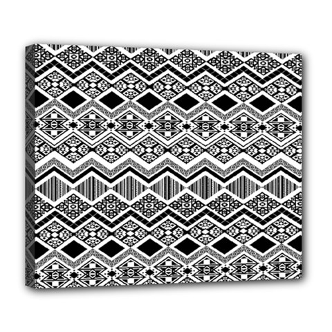 Aztec Design  Pattern Deluxe Canvas 24  X 20   by BangZart