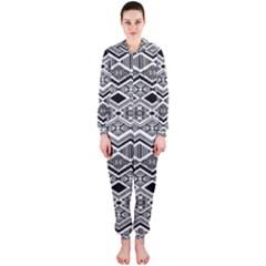 Aztec Design  Pattern Hooded Jumpsuit (ladies)