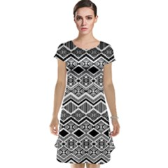 Aztec Design  Pattern Cap Sleeve Nightdress