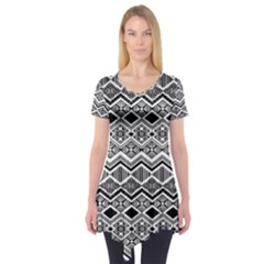 Aztec Design  Pattern Short Sleeve Tunic