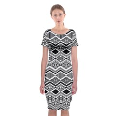 Aztec Design  Pattern Classic Short Sleeve Midi Dress
