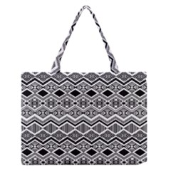 Aztec Design  Pattern Medium Zipper Tote Bag