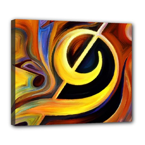 Art Oil Picture Music Nota Deluxe Canvas 24  X 20   by BangZart
