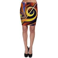 Art Oil Picture Music Nota Bodycon Skirt