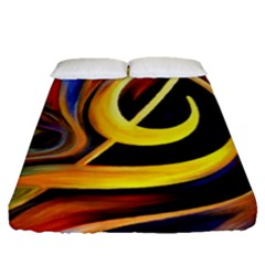Art Oil Picture Music Nota Fitted Sheet (queen Size)