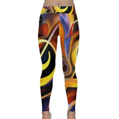 Art Oil Picture Music Nota Classic Yoga Leggings