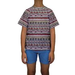 Aztec Pattern Art Kids  Short Sleeve Swimwear