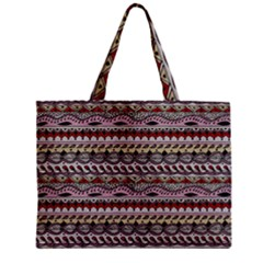 Aztec Pattern Art Zipper Mini Tote Bag