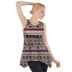 Aztec Pattern Art Side Drop Tank Tunic