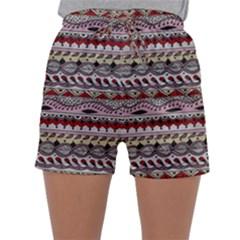 Aztec Pattern Art Sleepwear Shorts