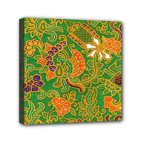 Art Batik The Traditional Fabric Mini Canvas 6  X 6  by BangZart