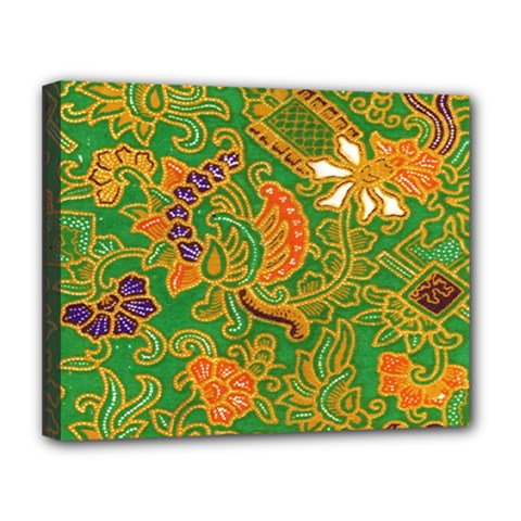 Art Batik The Traditional Fabric Deluxe Canvas 20  X 16   by BangZart