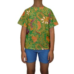 Art Batik The Traditional Fabric Kids  Short Sleeve Swimwear