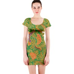 Art Batik The Traditional Fabric Short Sleeve Bodycon Dress