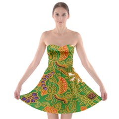 Art Batik The Traditional Fabric Strapless Bra Top Dress