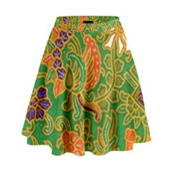 Art Batik The Traditional Fabric High Waist Skirt by BangZart