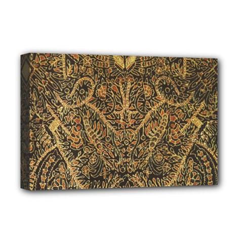 Art Indonesian Batik Deluxe Canvas 18  X 12
