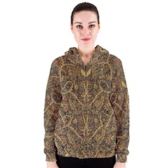 Art Indonesian Batik Women s Zipper Hoodie