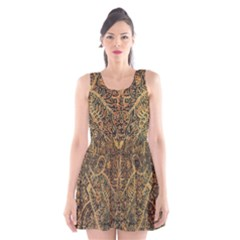 Art Indonesian Batik Scoop Neck Skater Dress