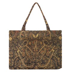 Art Indonesian Batik Medium Zipper Tote Bag